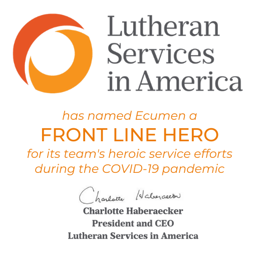 Front Line Hero Awarded to Ecumen by Lutheran Services in America